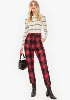 Checked Tapered Trouser