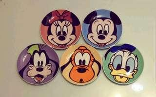 版權迪士尼5盤,5圖, 20.5公分。#迪士尼  稀少收藏精品