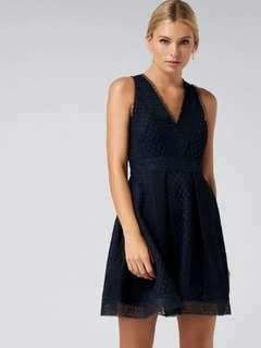 Forever new valery lace mini ball dress NAVY