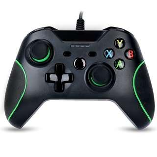Game controller for Xbox one Wired Gamepad Joystick Dual Vibration feedback with 3.5 Audio Jack-WASUNNY (black) (B15)