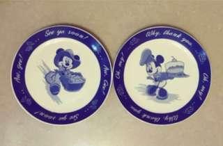 版權迪士尼2盤,2圖, 20.5公分。#迪士尼  稀少收藏精品