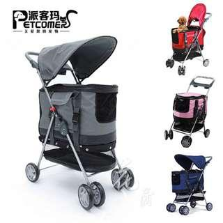 50% off( Defected) [Instock] 3 In 1 Multi Functional Pet Stroller Pram / Pet Carrier/ Safety Car Seat for Pets