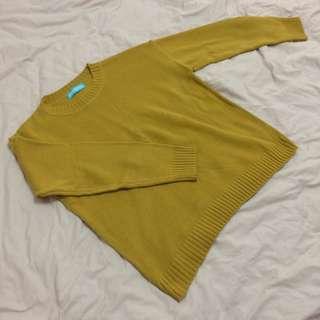 🚚 全新 芥末黃 針織毛衣