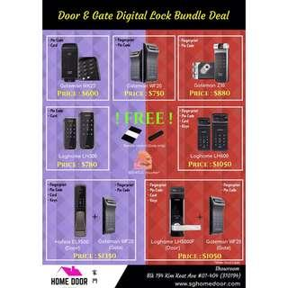 Digital Smart Lock on offer!! Loghome, Hafele, Gateman