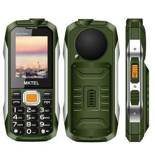 2018 MKTEL Outdoor Mobile Phone,2.4 inch+Large speaker,Dustproof,Rugged Cell phone For elderly.(2G Dual Sim,Big Buttons,Powerbank USB Port,Long Standby,LED Flashlight,58 Hours Talk Time) - Green (B15)