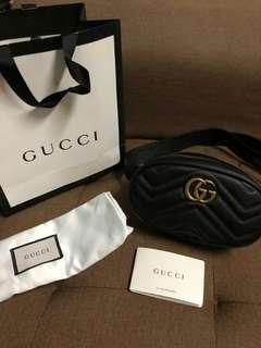 Authentic Gucci belt bag in black