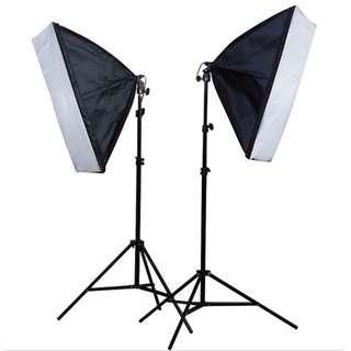 [flash deal] Photo Studio Lighting Softbox Video Light kit 50*70cm + 2.6M Light Stand