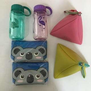 Water bottle pouch pencil case