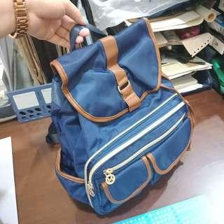 2 in 1 convertible bag! Blue and brown
