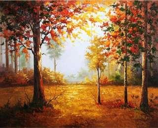 Paint By Number Trees
