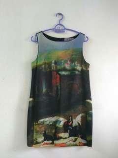 Sleeveless Dress with back zip #DEC30
