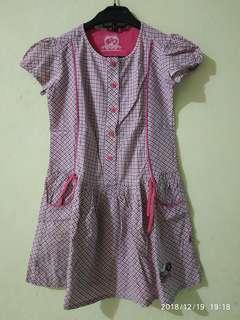 Dress snoppy anak perempuan