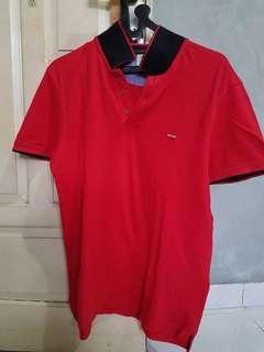 polo shirt Levi's merah ORIGINAL