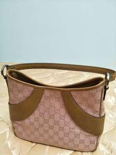 🚚 Gucci 帆布手挽袋粉紅色