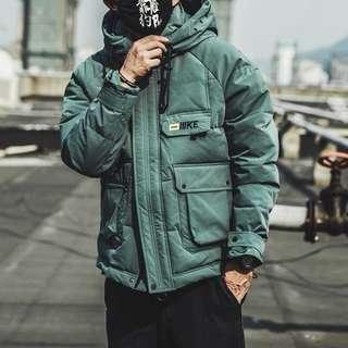 🚚 冬季短款寬鬆連帽工裝棉衣外套加厚外套