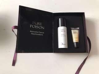 Christian Dior Pure Poison Parfum Travel Hair Mist & Lip Gloss Limited Edition Set