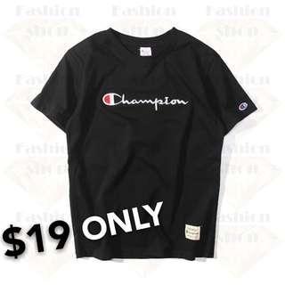 [Get Two @$33] Champion Slim Fit Cotton T-shirt