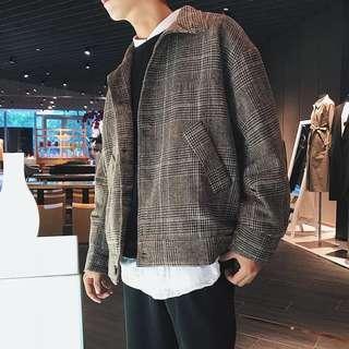 🚚 【 Gshop.】加厚格子外套寬鬆棒球衣服學生百搭短款夾克