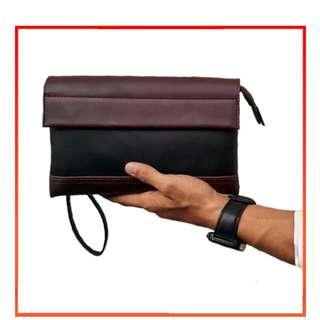 Men Modern Leather Hand Carry Clutch Bag MC382 YY NKB24