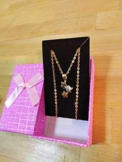 "Saudi Gold 18k Necklace 18"""