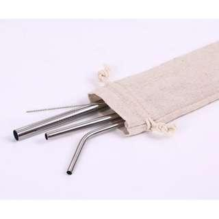 Reusable Metal Straw (Set)