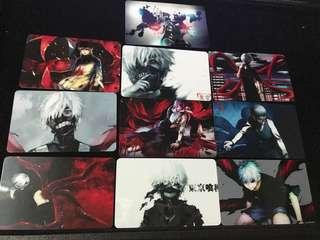 Tokyo ghoul set of 10 card stickers set #CS01
