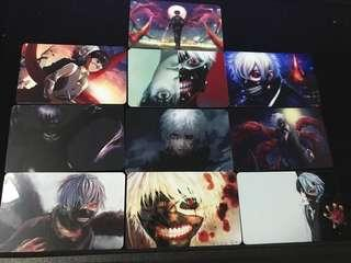 Tokyo ghoul set of 10 card stickers set #CS02