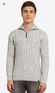 Indicode Jeans Highneck Cable Knit Sweater