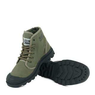 🚚 PALLADIUM PAMPA HI ORIGINALETC 軍綠帆布軍靴75554-376