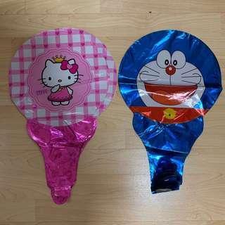 Hello Kitty/Doraemon Bells Handheld Balloons Children Kids Birthday Goody Goodies Bag