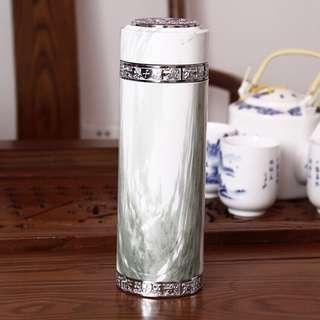 鋅合金陶瓷杯 外身精緻花樣 保溫杯 陶瓷杯 泡茶杯 聖誕禮物 禮贈品