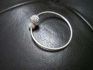千足银球钻手环 S999 Sphere Crystals Bangle #PRECNY60