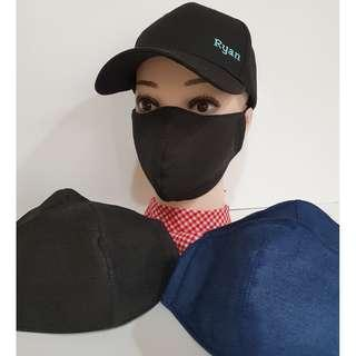 3 Layer Anti Dust Haze Winter Fabric Face Mask - Jeans