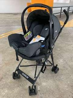 Joie Gemm 提籃式嬰兒汽車座椅 連推車架 car seat