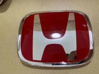 Original Red Honda Front Emblem for Honda FC