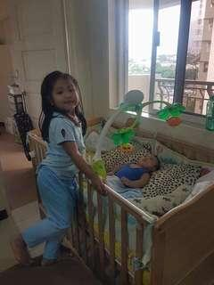 Pre-loved wooden crib for sale