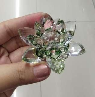 Water Lily Crystal Decor