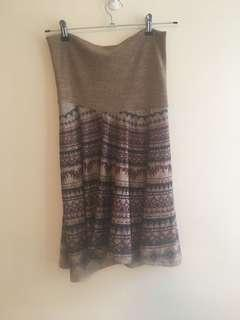 Strapless hippy dress