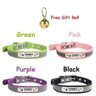 Personalized Deep Engraving ID Pet Collar For Small Dog's & Cat's