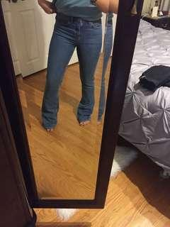Topshop bell bottom jeans