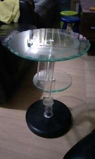 Crystal side table