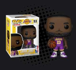 7ee3b8a0565 Funko Pop - NBA basketball Lebron James L.A. Lakers purple uniform