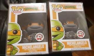 Funko pop Greyscale Michelangelo coast city comic con