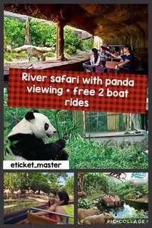RIVER SAFARI with PANDA VIEWING free 2 BOAT RIDES