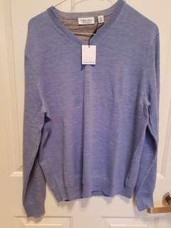 NEW Calvin Klein merino M blue jumper