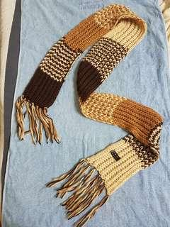 Acrylique Knitted Brown Scarf