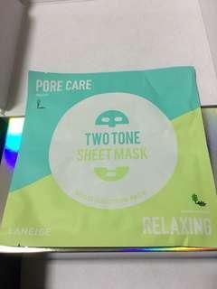 LANEIGE two tone sheet mask