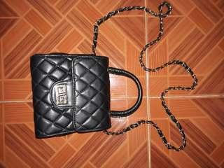Chanel inspired sling chain bag