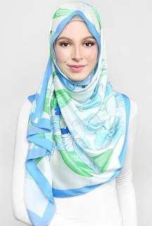 Duckscarves Blooming Scarf in Blue