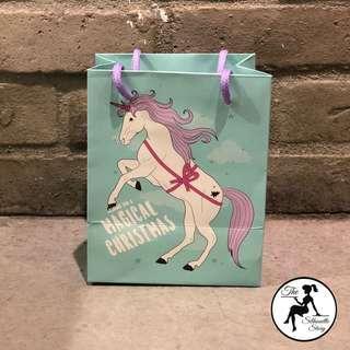 Unicorn Christmas Gift Bag